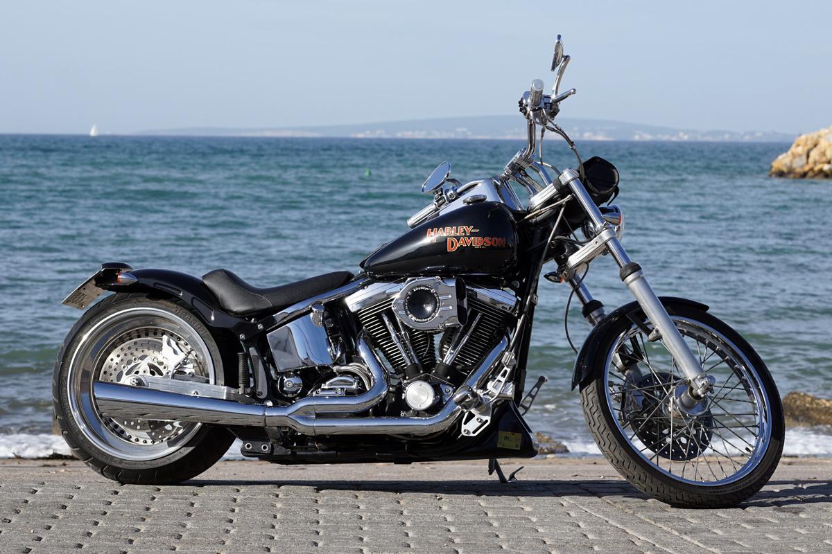 Softail custom ht baleares alquiler de motos harley for Motos palma de mallorca